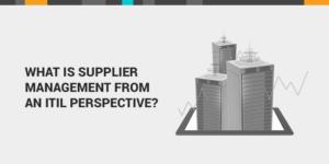 supplier management ITIL