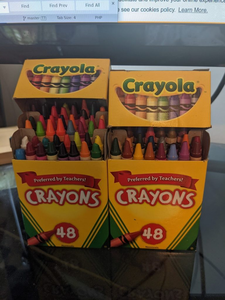 """I got the crayons after reading an essay by Robert Fulghum in """"All I Really Need to Know I Learned in Kindergarten."""""""